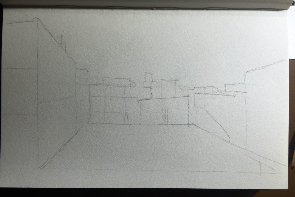 Earliest stage pencil sketch