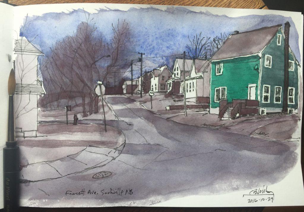 Houses on Fawcett Avenue, Sackville, NB