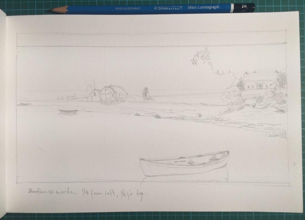 Boathouse and Farm House (sketch)
