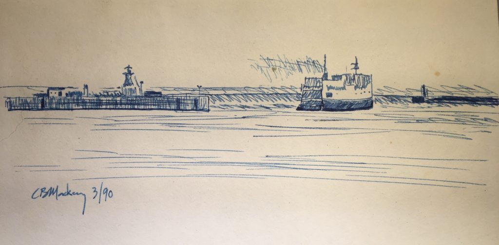 MV John Hamilton Gray leaving Cape Tormentine terminal [sketch]