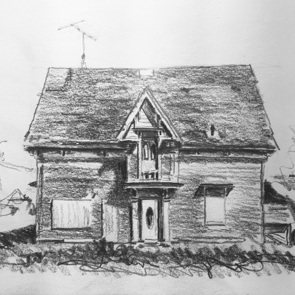 Sketch of house in Port Elgin, New Brunswick