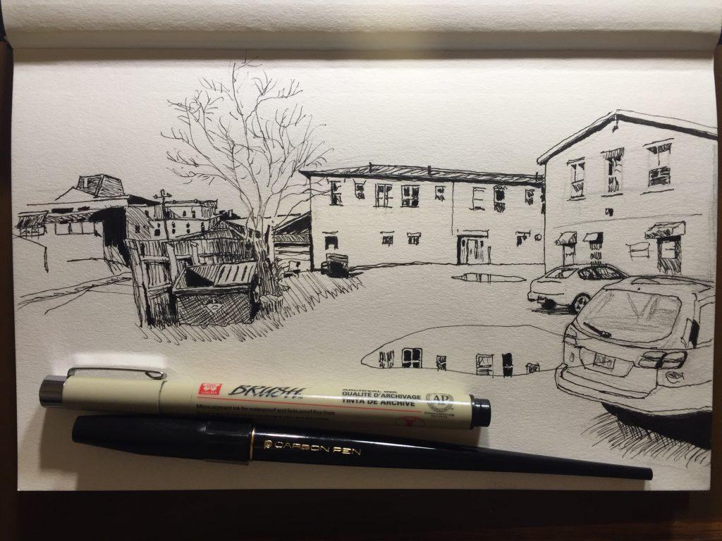 Parking lot behind Struts Gallery, Sackville