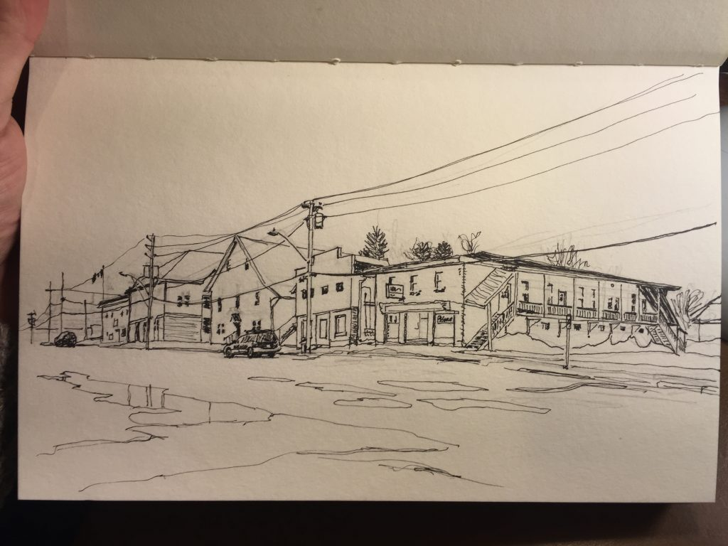 Sketch of Struts Gallery/Lorne Street, Sackville
