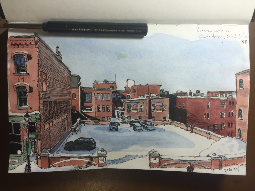 Watercolour: Canterbury St., Saint John, New Brunswick