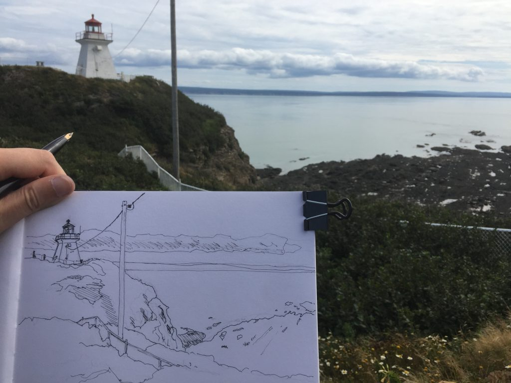 Sketch of the light station at Cape Enrage