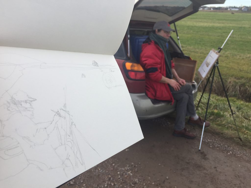 Stephen Scott en plein air