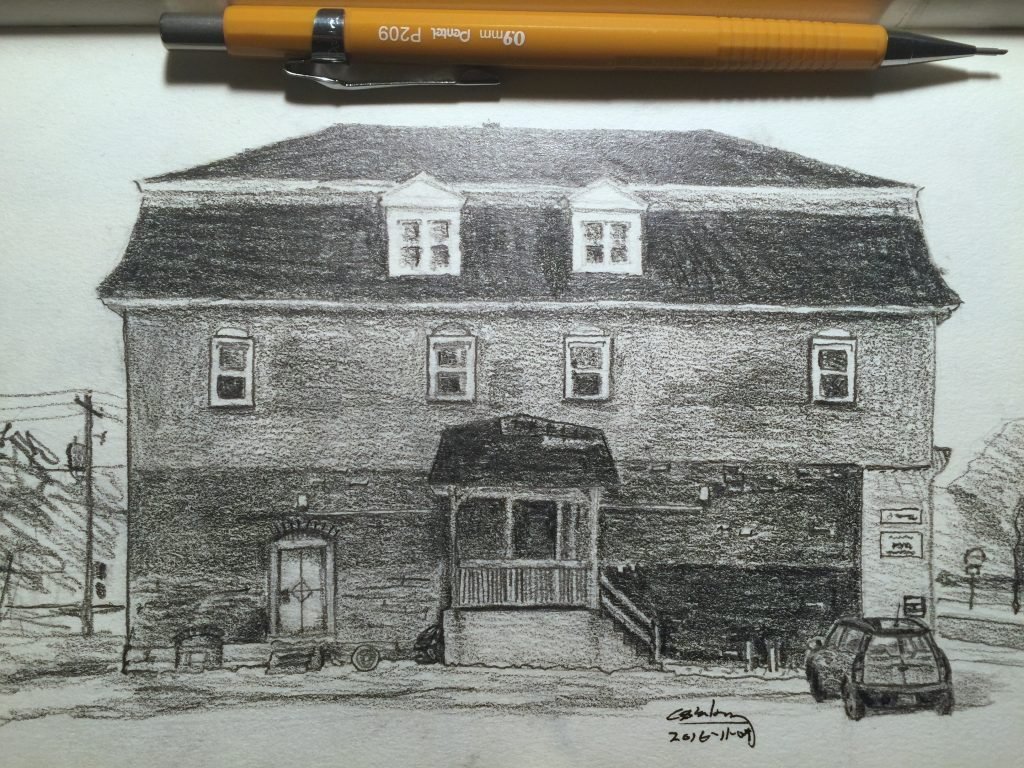 Drawing of The Bicycle Specialist, Amherst